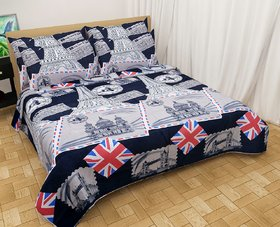 3d Double Bedsheet with 2 Pillow (ENGLAND STYLE)