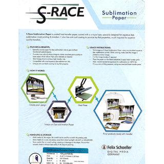 S-RACE A4 SUBLIMATION PAPER-120 GSM (100 SHEET)