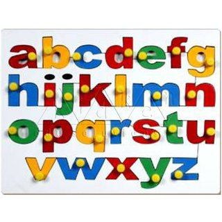SHRIBOSSJI Small Alphabet Insert Board - Wooden Educational Toys  (Multicolor)