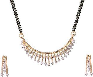 A2 Fashions American Diamond Gold Plated Mangalsutra For Women/Mangalsutra For Women Latest Design