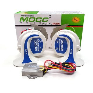 Genuine Mocc horn digital with 18 tunes for cars and bike