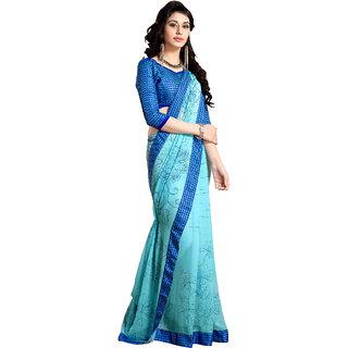 Khushali Presents Georgette Saree(Sky Blue) YNDST20427