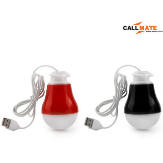 Callmate SZN01 Rubberized 2W Magnetic Usb LED Bulb (Set of 2)