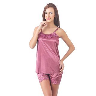Buy Fasense Soft Smooth Satin Nightwear Top And Shorts Night Suit For Girls Dp087 Online 499 From Shopclues