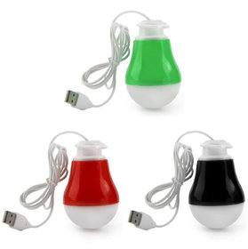 Callmate SZN01 Rubberized 2W Magnetic Usb LED Bulb (Set of 2)Assorted Color