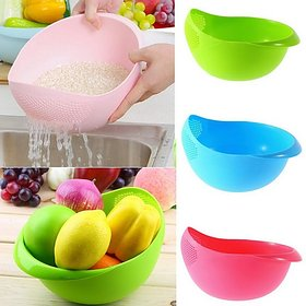 New Rice Plastic Pulses Strainer Multicolor No. of Pieces 1