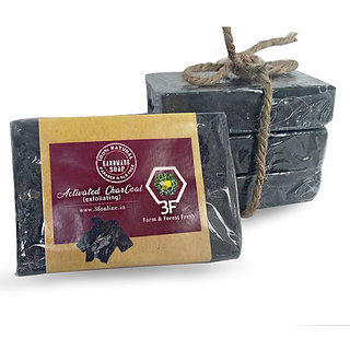 Handmade Activated Charcoal Soap- 100Gm Pack of 4