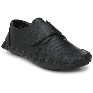 ZebX Black Loafers