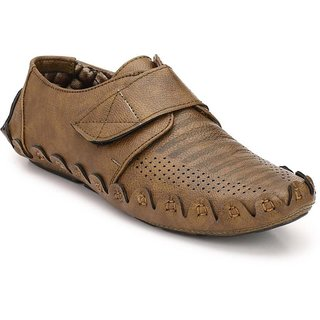 ZebX Brown Loafers