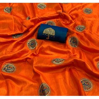 Buy Beautiful Sana Silk Saree With Embroidery Work Online 1400