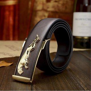 Brown Jaguar Design Belt