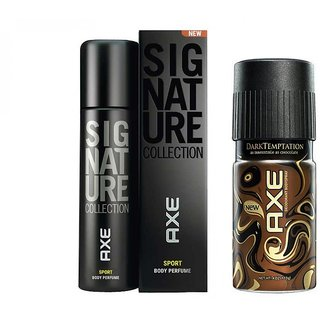 Axe Chocolate And Signature Deo Deodorants Body Spray For Men - Pack Of 2 Pcs