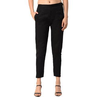 ALISHAH Cotton Lycra Trousers for Women and Girls, Plus 15 Colors, Sizes-M,L,XL,XXL,XXXL