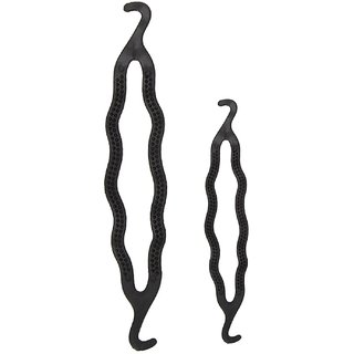 Hair Styling Clip Bun/Juda Maker Braid Tool 1 Big Size 1 Small Size (Pack of 2)