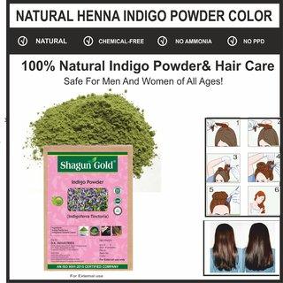 100 Natural Indigo Leaves Powder (Indigofera Tinctoria) (Pack of 2) 400 Grams