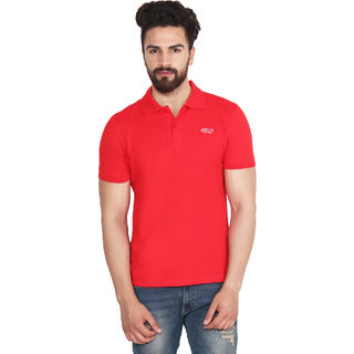 Yellow Tree A R R O W Red Polo Neck T Shirt For Mens Good Quality Cotton Polo Neck T Shirt