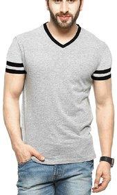 Klick2Style Men's Single Jersey Grey Tshirt