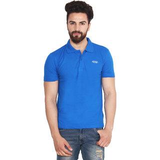 Yellow Tree A R R O W Royal Blue Polo Neck T Shirt For Mens Good Quality Cotton Polo Neck T Shirt