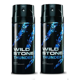 Wild Stone Thunder Deodorant (Set of 2) 150ml each