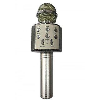GA2Z WS-858 Wireless Microphone HI FI Speaker Silver
