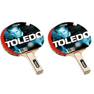Stiga Toledo Pack of 2 Pcs TT Table Tennis Bat