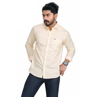 Wildstyle Cotton  Orange Full Sleeve Normal Collar Causal wear Mens Printed Shirt