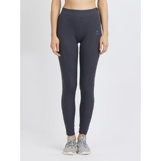 Tuna London Grey Solid Polycotton Lycra Sports Tights Track Pant For Womens