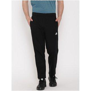 Adidas Black Polyester Lycra Track pants
