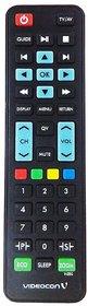 MASE Original Videocon LCD TV Remote Control (Black)