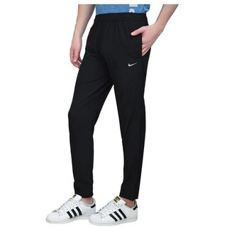 Nike Navy Polyester Lycra Track pant For Men