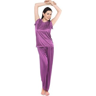 Fasense night wear cap sleeve top and pajama night suit for women DP093