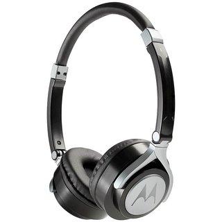 Motorola Pulse 2 On Ear Wired Headphone - Black or White