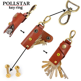 Smart Compact Key Organizer Keychain - Leather Key Holder - Secure Locking Mechanism - Pocket Key Chain (KR8TN)