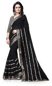 MAHALAXMI FAB Women's Georgette Multi-Colour Saree (KA-1)