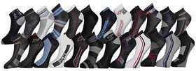 Stylish Sports Ankle Socks (Set Of 12 Pairs)