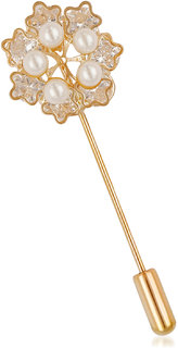 VK Jewels Multi Floral Pearl Brooch for Women made with Cubic Zirconia - VKBC1003G