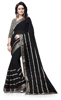 MAHALAXMI FAB Women's Georgette Multi-Colour Saree (KA-1)