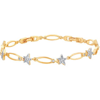 Sukkhi Astonish Gold Plated Star Shaped Bracelet for women
