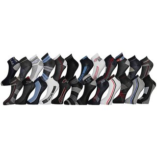 Stylish Sports Ankle Socks (Set Of 12 Pairs)