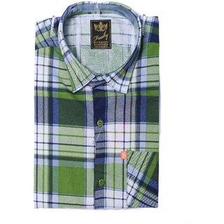 Freaky Mens Slimfit Green Casual  Shirt
