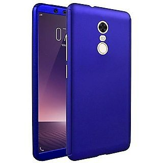 MOBIMON 360 Degree Full Body Protection Front Back Case Cover (iPaky Style) with Tempered Glass for RedMi Note 5 (Blue)