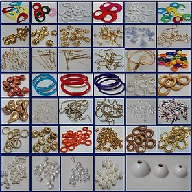 47 Pc Silk Thread Jewelry/Jhumka/Earring/Necklace Making Material