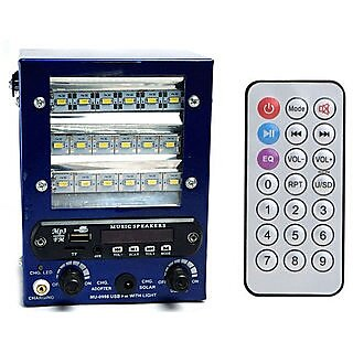BE GROUP Speaker with FM USB AUX SD Card With 18 SMD Led Light powerful battery chargeable Bass Rechargeable Battery