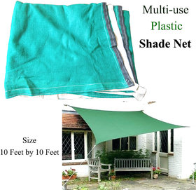 75 Percent Green, Plastic Shade Net with Fabric Border. ( Size 10 Ft. X 10 Ft.)