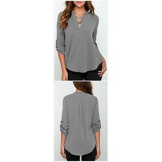 Rimsha grey shirt style top