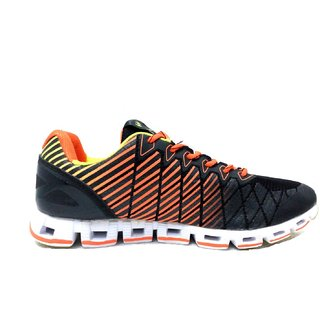 Campus Acttv Blk/Org/F.Grn Men Running Shoe