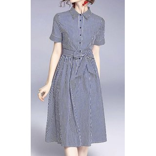 Rimsha poly cotton shirt style dress
