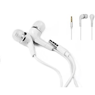 KSJ J5 in ear Earphone with mic and volume control Keys White
