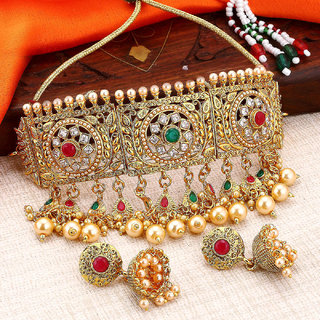 Sukkhi Bollywood Gold Plated Choker Necklace Set For Women Padmavati Collection