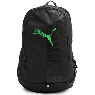 8b7cb97b9594 Buy Puma Unisex Graphics Black - Green Backpack Online - Get 57% Off